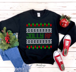 Jolly AF Unisex Ugly Christmas Clothing Collection