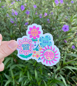 It's A Small World Goodbye Sign Sticker