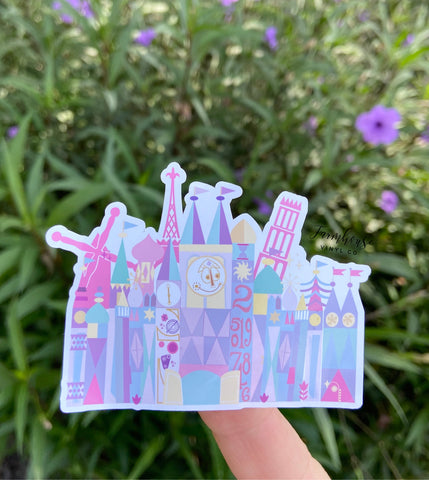 It's A Small World Style Sticker