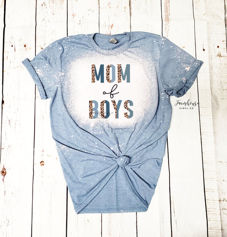 Mom of Boys Bleached Shirt