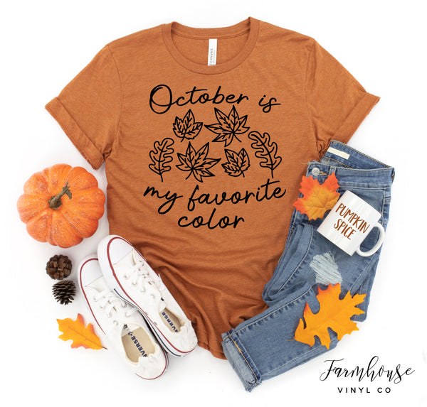 October Is My Favorite Bella Canvas Unisex Short Sleeve Shirt