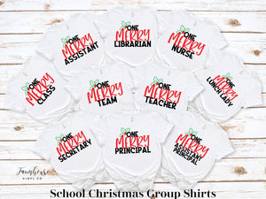 Educator School Group Christmas Shirt Collection