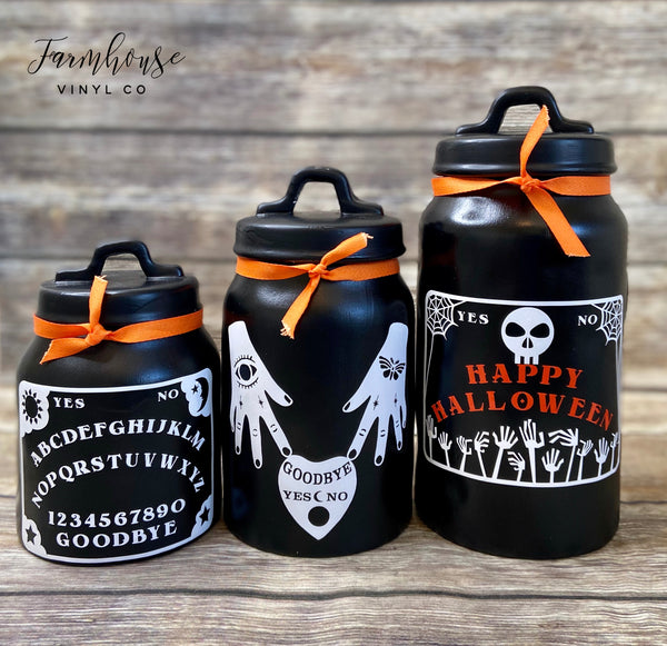 Ouija Board and Oracale Canister Decal