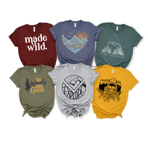 Outdoor Hiking Unisex Shirt Collection