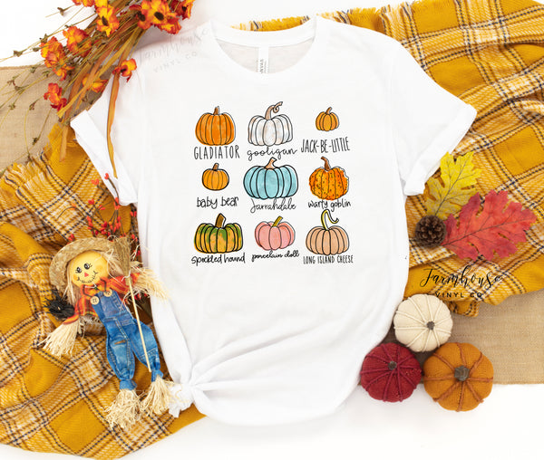 Pumpkins Unisex Short Sleeve Shirt