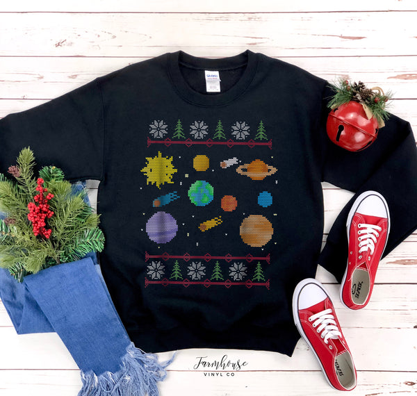Solar System Planets Unisex Ugly Christmas Clothing Collection