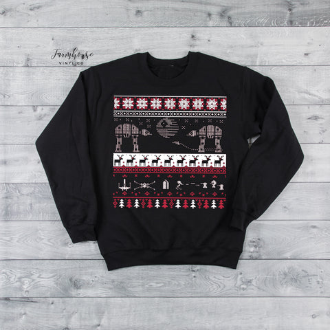 Unisex Star Wars Ugly Christmas Sweatshirt