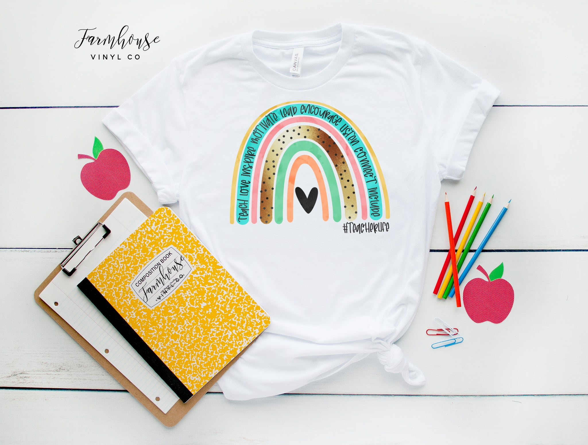 #TeacherLife Rainbow Bella & Canvas Unisex Shirt