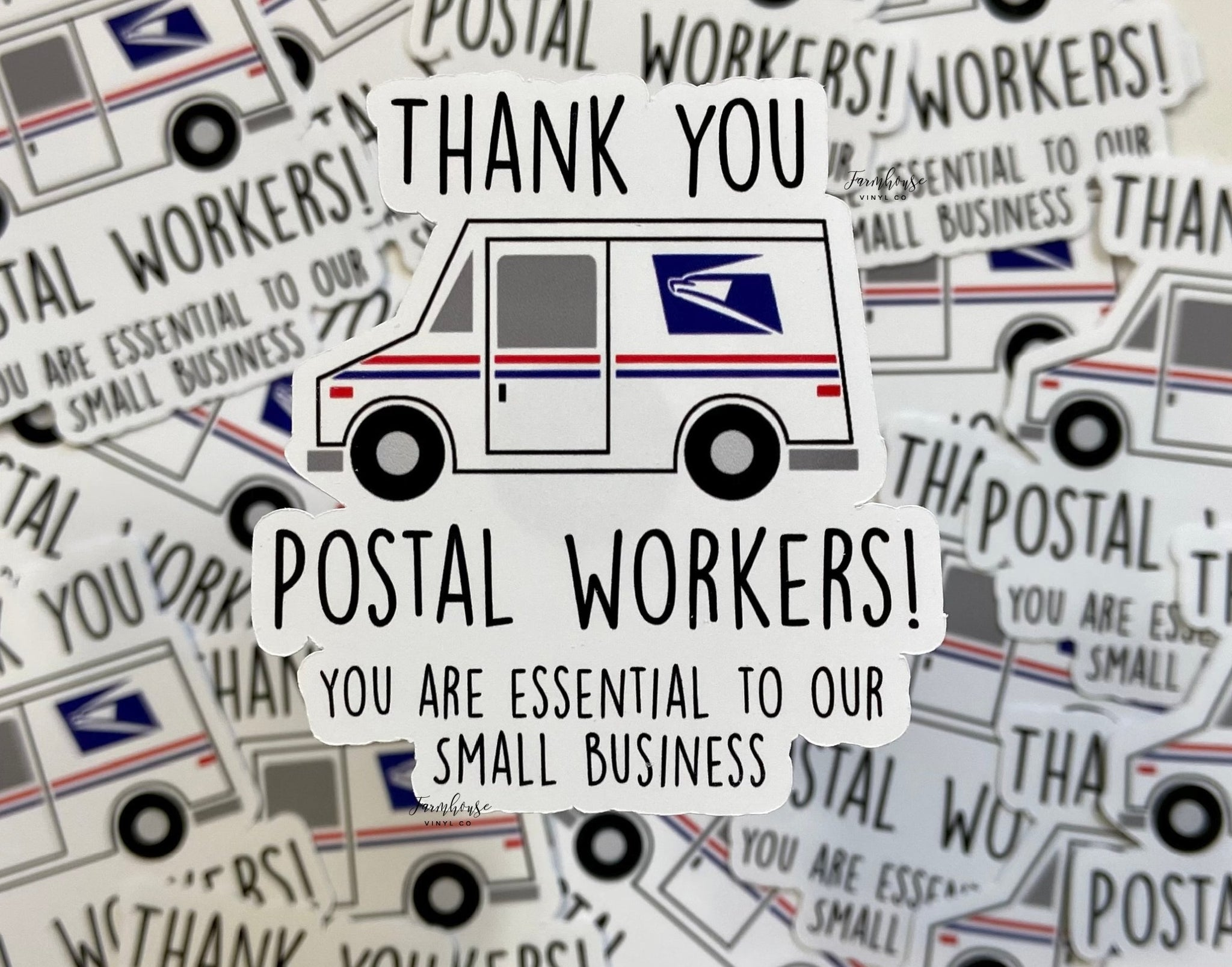 Thank You Postal Workers Stickers