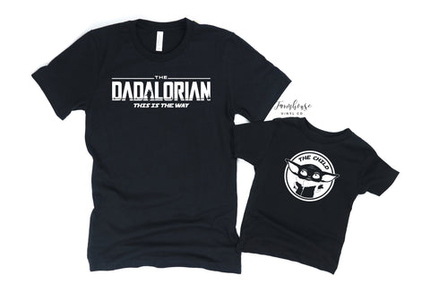 Star Wars Dadalorian and The Child Shirt Set