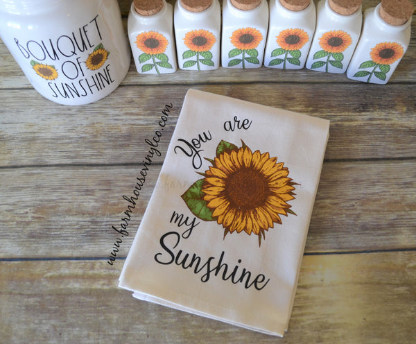 Rae Dunn Inspired Sunflower Decor and Decals