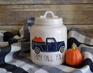 Rae Dunn Inspired Vintage Autumn and Fall Truck Vinyl Decal