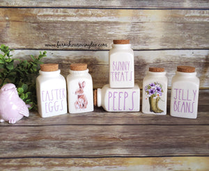 Rae Dunn Inspired Easter Spice Jar Vinyl Decals