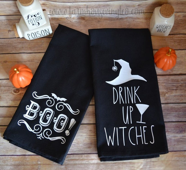 Farmhouse Halloween Towels