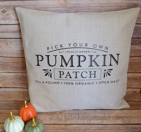 Farmhouse Pumpkin Patch 16 x 16 Pillow
