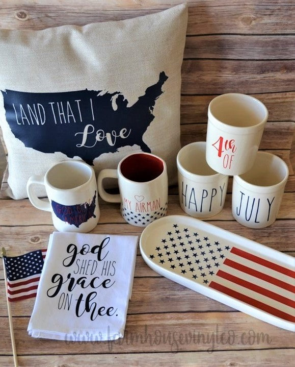 Rae Dunn Inspired Patriotic And Fourth Of July Kitchen
