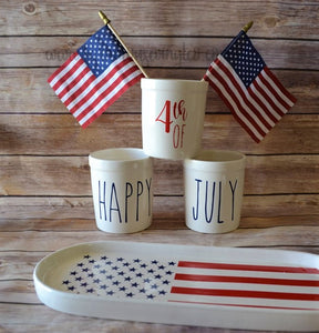 Rae Dunn Inspired Patriotic and Fourth of July Decals