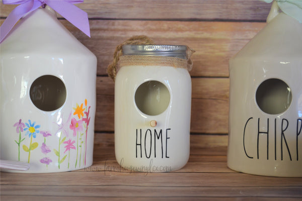 Rae Dunn Inspired Mason Jar Birdhouse Vinyl Decal