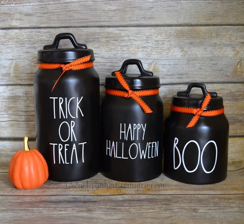 Rae Dunn Inspired Halloween Canister Decals