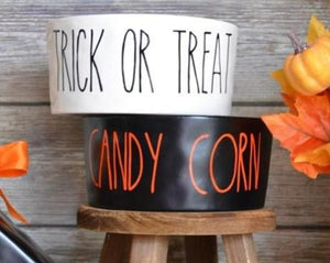 Rae Dunn Inspired Halloween Bowl Decals