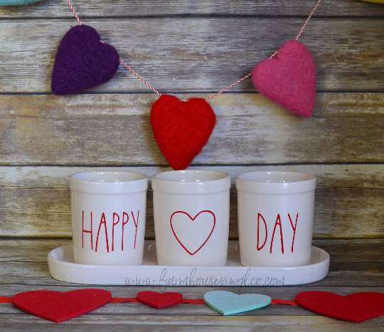 Rae Dunn Inspired Valentine's Day Planter Vinyl Decals