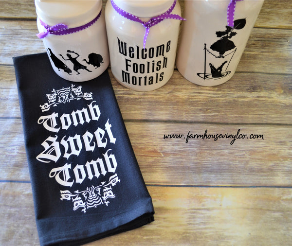 Haunted Mansion Halloween Decals and Towel