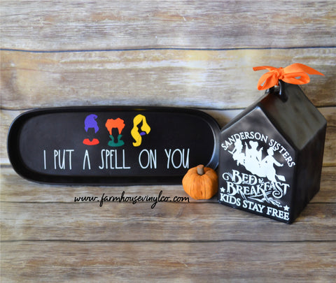 Rae Dunn Farmhouse Inspired Hocus Pocus Halloween Decals