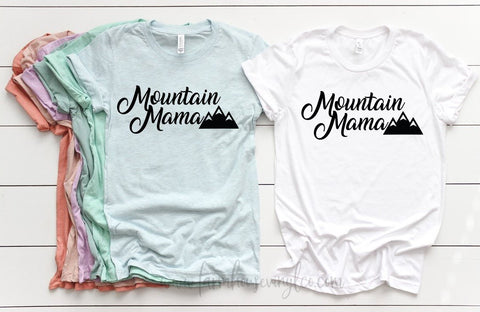 Bella and Canvas Women's Mountain Mama Short Sleeve T-Shirt