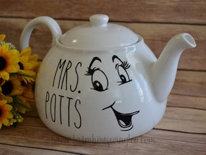 Rae Dunn Inspired Mrs. Potts Teapot Decals