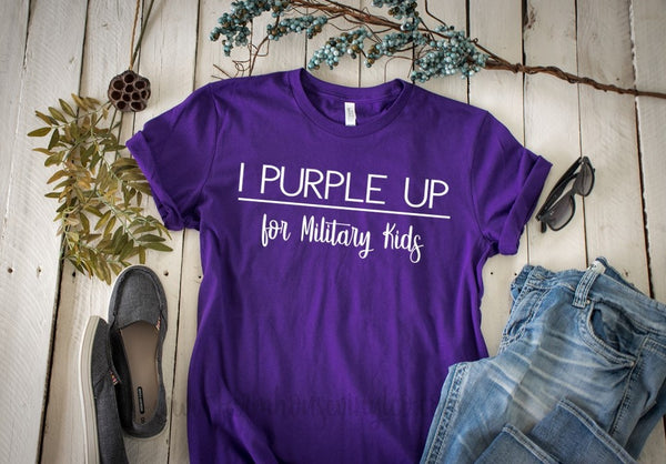 Unisex I Purple Up for Military Kids Month of the Military Child Shirt!