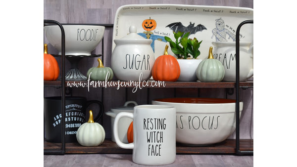 Rae Dunn Inspired Halloween and Fall Vinyl Mug Decals