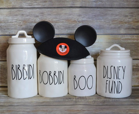 Rae Dunn Inspired Disney Decals