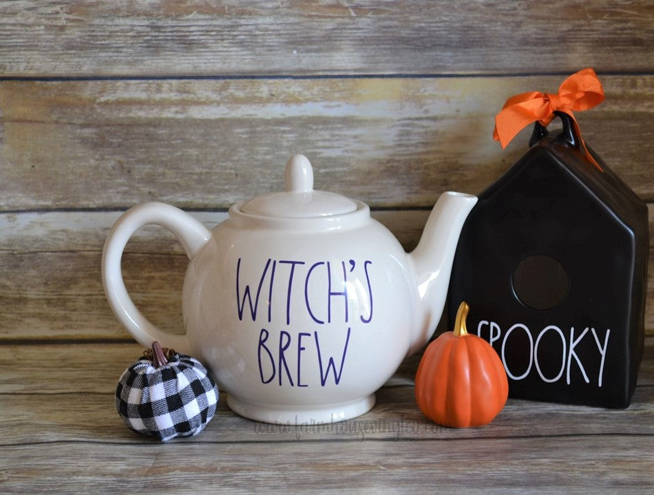 Rae Dunn Inspired Halloween Teapot Decal