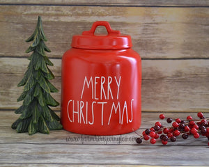 Rae Dunn Inspired Merry Christmas Canister Decal