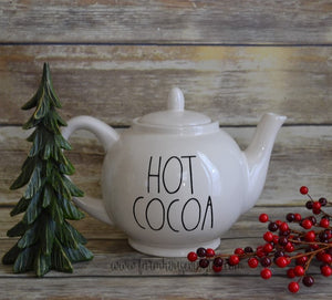 Rae Dunn Inspired Merry Teapot Decal