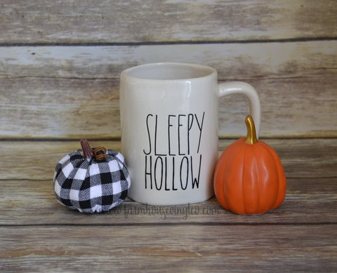 Rae Dunn Inspired Sleepy Hollow Mug Decal