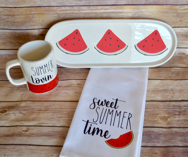 Rae Dunn Inspired Watermelon Decor Set
