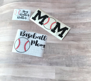 Baseball Mom Vinyl Decal