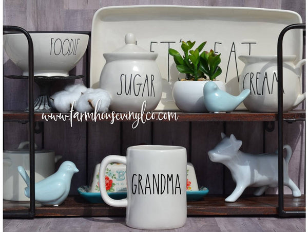 Rae Dunn Inspired Grandparents Vinyl Decal