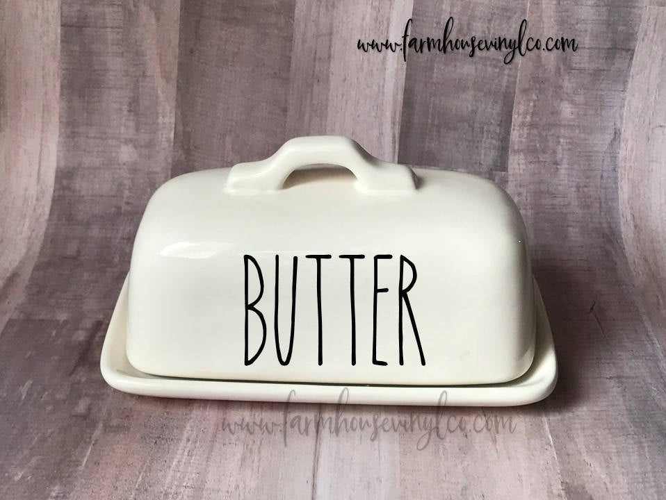 Rae Dunn Inspired Butter Dish Vinyl Decal