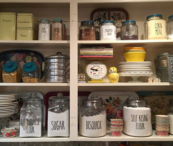 Rae Dunn Inspired Pantry and Canister Label Vinyl Decals