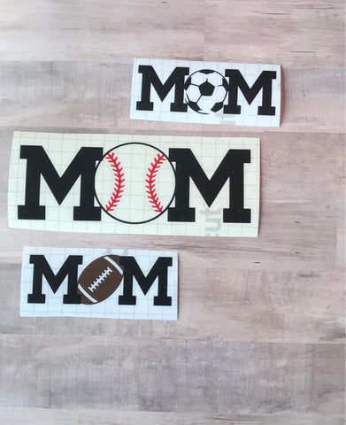 Sports Mom Vinyl Decal
