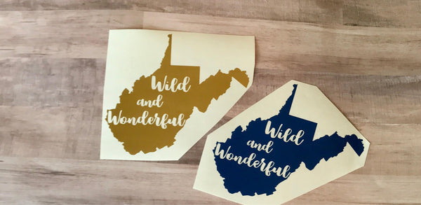 West Virginia Wild and Wonderful Vinyl Decal