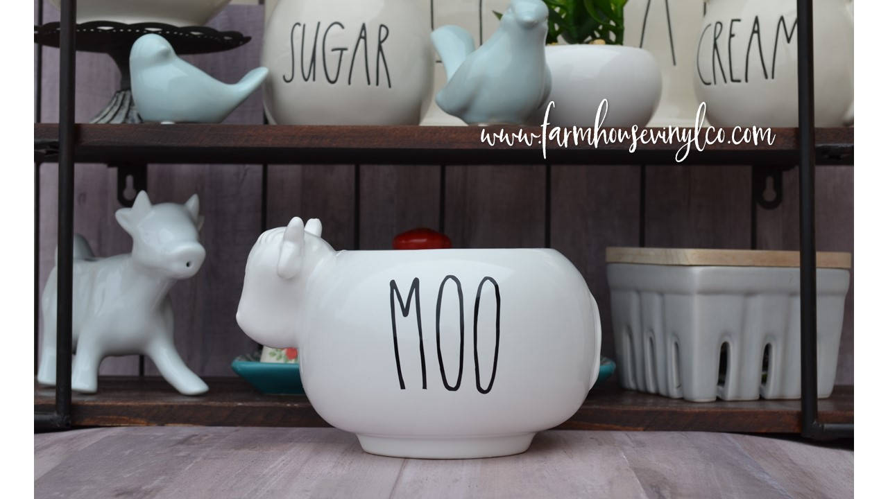 Rae Dunn Inspired Moo Vinyl Decal