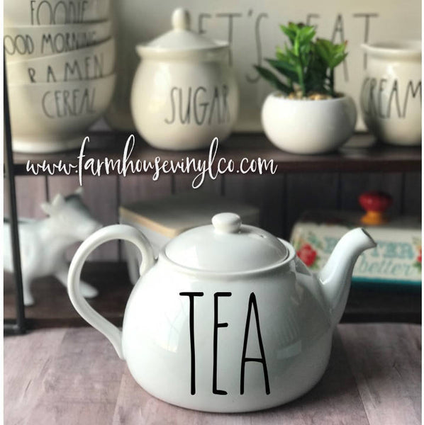 Rae Dunn Inspired Teapot Decals