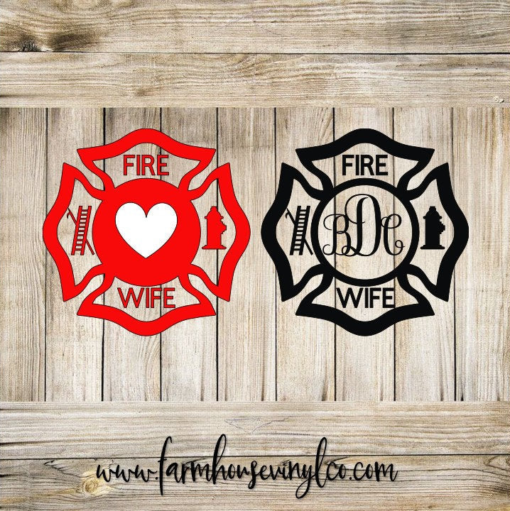Fire Wife Bage Vinyl Decal