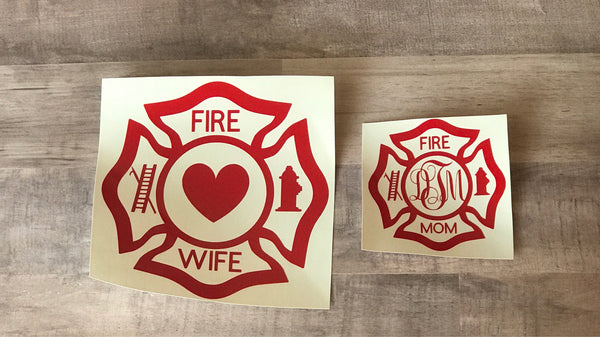 Fire Mom Vinyl Decal