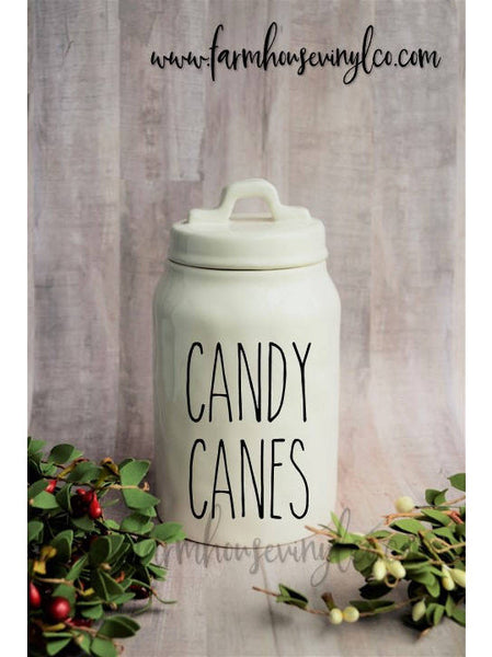 Rae Dunn Inspired Christmas Canister Decals