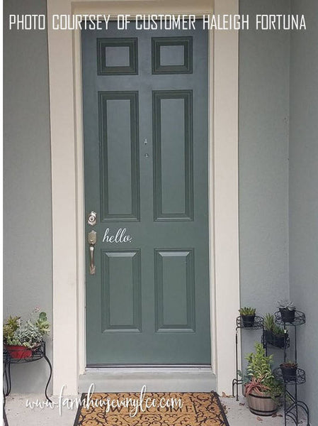 Decorative Front Door Decal