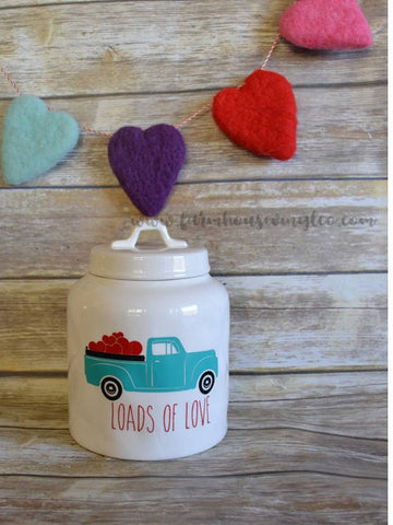 Valentine's Day Rae Dunn Inspired Vintage Truck Vinyl Decal